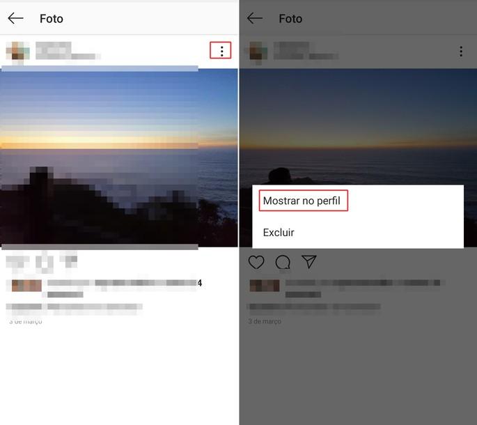 arquivar e desarquivar posts instagram