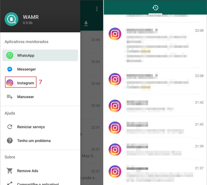 Como recuperar mensagens apagadas do Instagram