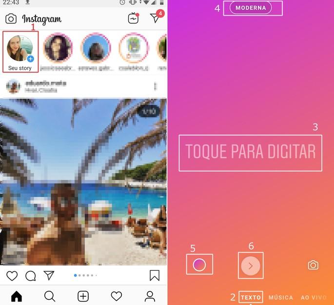 Mudar letras e fontes do Instagram