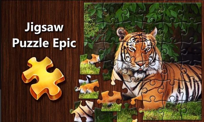 imagem de divulgação do app Jigsaw Puzzles Epic