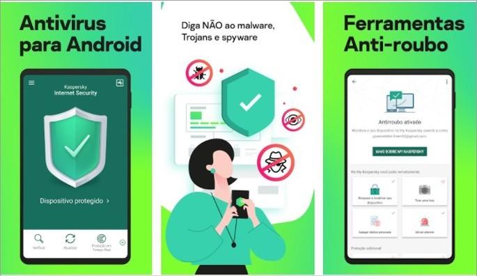 Imagem de divulgação do app de segurança para Android Kaspersky Internet Security