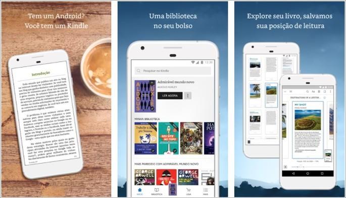 Imagem de divulgação do app Kindle para Android