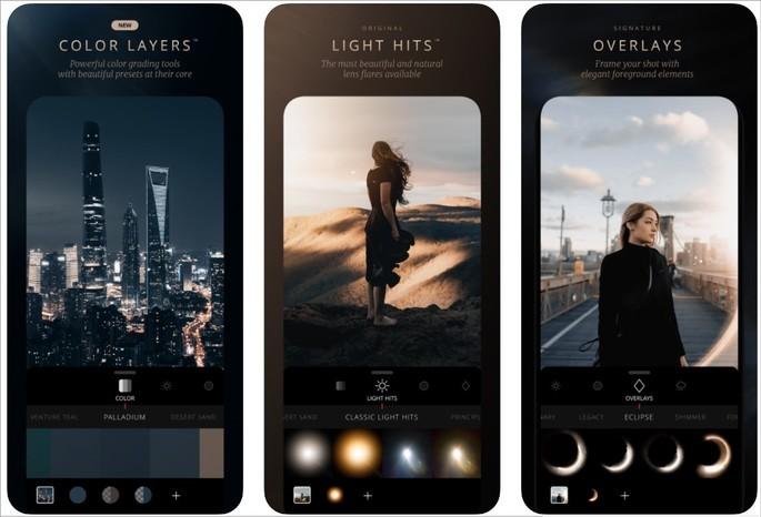 Imagens de divulgação do app Lens Distortions