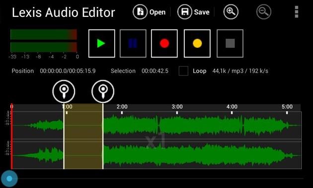 Edição de áudio com o editor de som Lexis