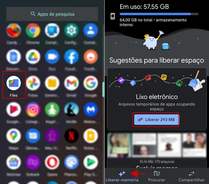 Etapas de como limpar os arquivos temporários (cache) no Android