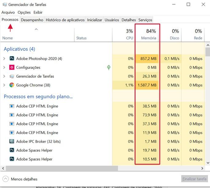 limpar memória RAM no Windows