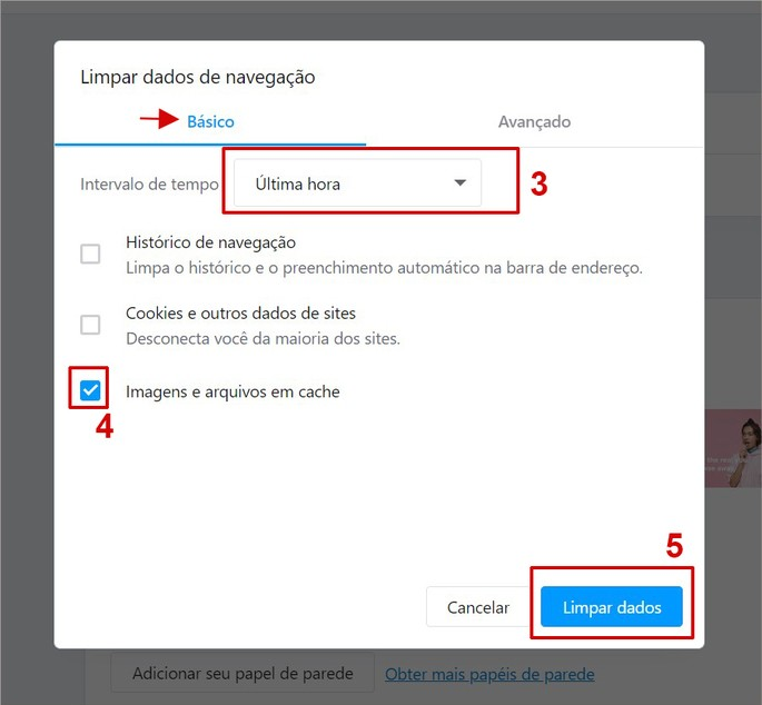 Como limpar cache no Opera pelo PC