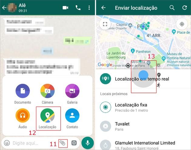 Como mandar localização falsa no WhatsApp