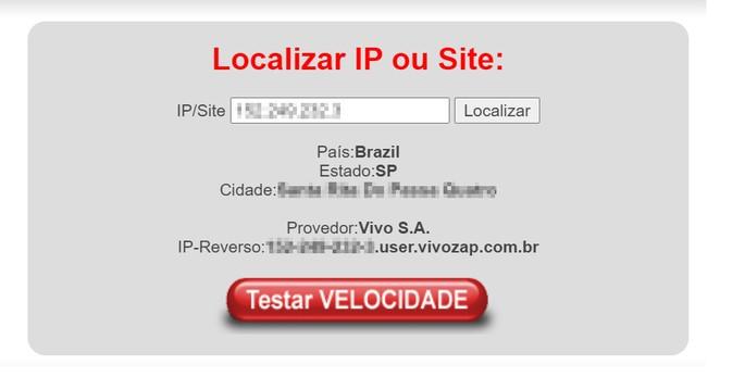 Serviço de localização geográfica de IP LocalizaIP