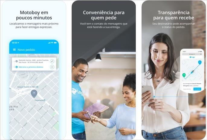 Imagem de divulgação do app de entrega de mercadorias Loggi