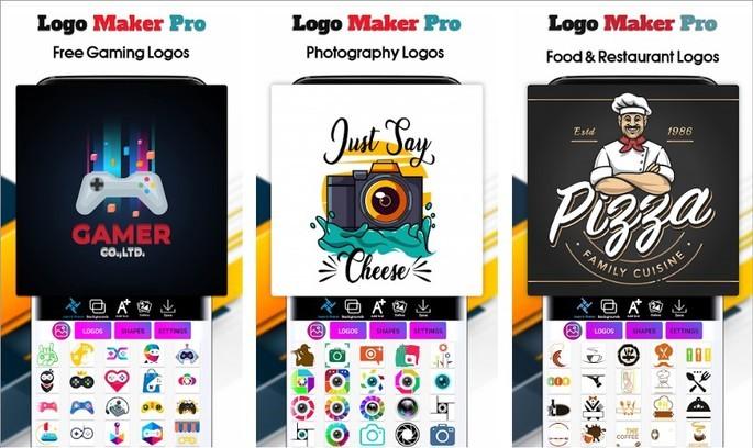 Imagem de divulgação do app Logo Maker