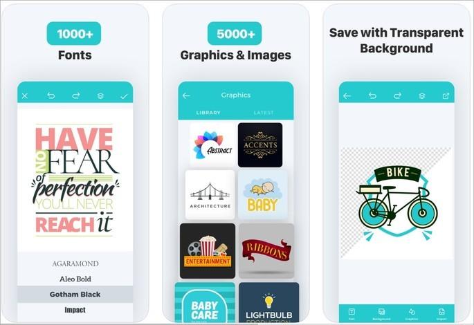Imagem de divulgação do app Logo Maker - Create a design na Play Store
