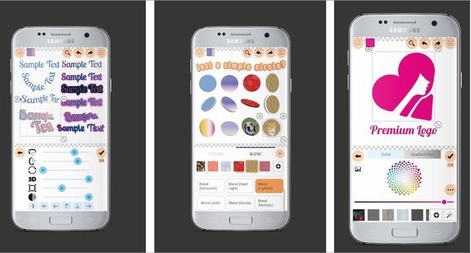 Imagem de divulgação do app de criação de logo Logo Maker Plus