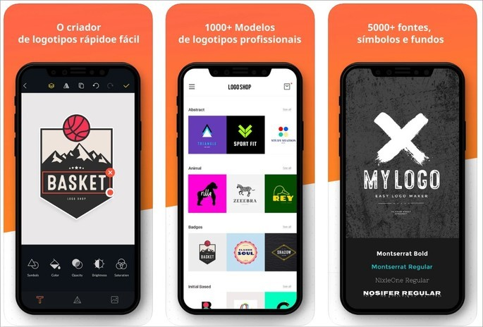 Imagem de divulgação do app Logo Maker Shop