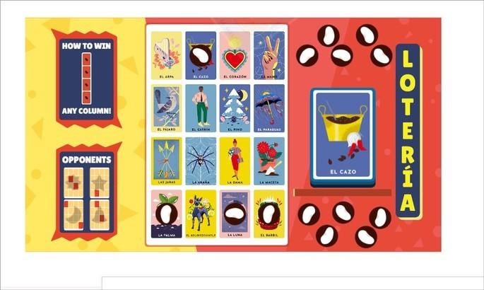 Doodle do Google para celebrar o jogo de Lotería mexicana