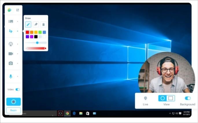 Imagem de divulgação do programa para webcam manycam