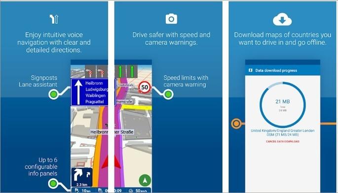 Imagem de divulgação do app MapFactor Navigator
