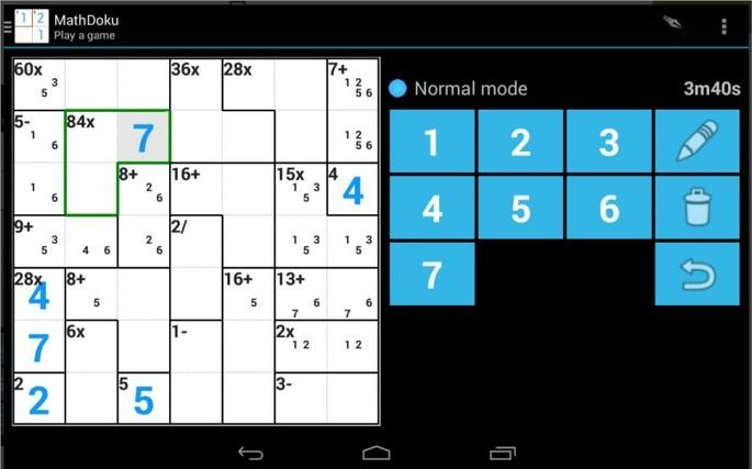 App de lógica MathDoku