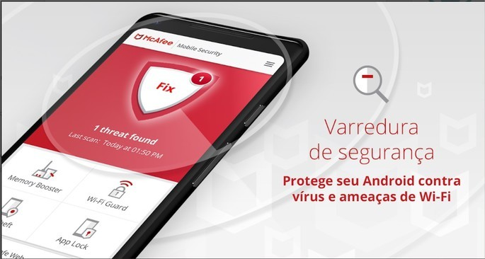 Imagem de divulgação do aplicativo de segurança para Android McAfee Mobile Security