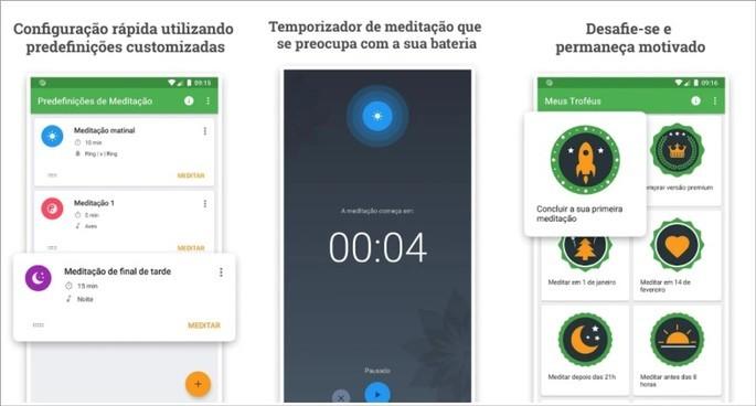 App de meditação e mindfulness Medativo