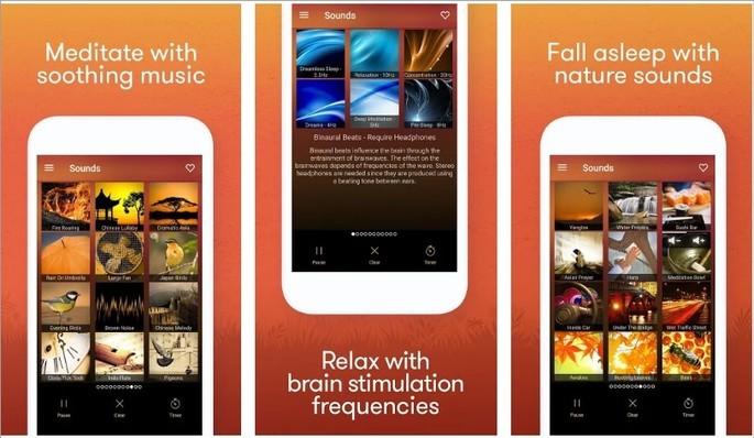 Imagem de divulgação do app Meditation & Relaxation Music no Google Play