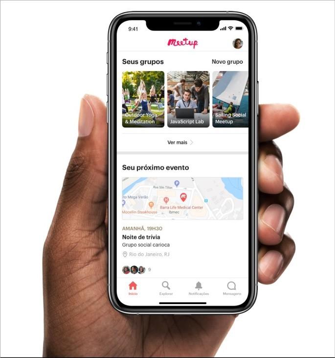 App para conhecer pessoas na vida real MeetUp