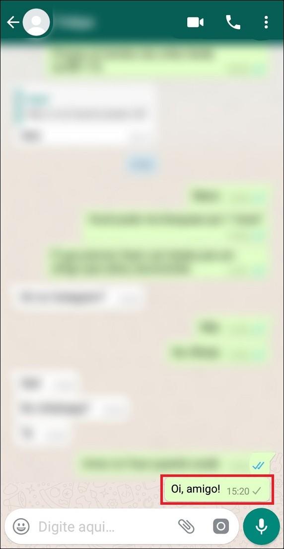 Mensagem não entregue no WhatsApp