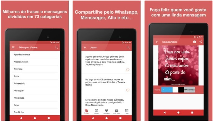 Imagem de divulgação do app Mensagens Prontas para celular