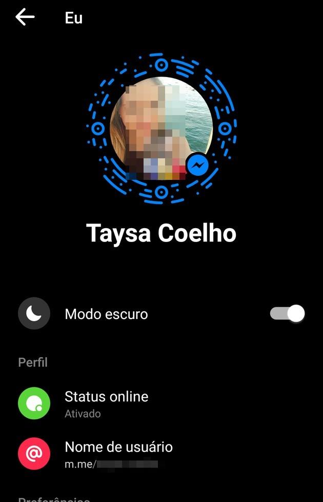 Ativar modo escuro do Facebook Messenger