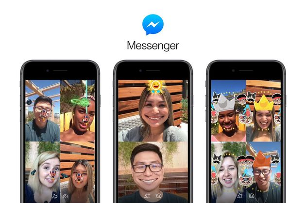 Lentes do Facebook Messenger