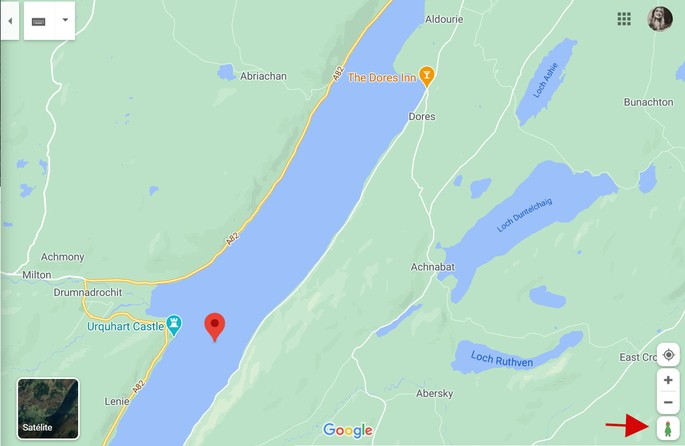 Pegman do Google Maps se transforma no monstro do Lago Ness