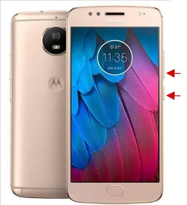 Botões para apertar para fazer Hard reset nos aparelhos Motorola