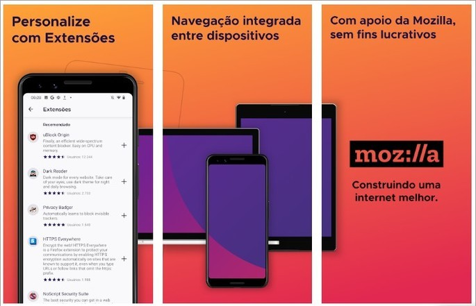 Imagem de divulgação do navegador de internet Mozilla Firefox