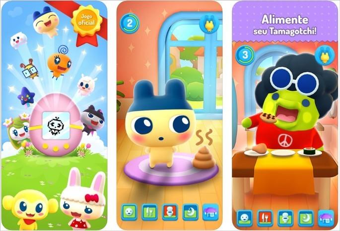 Imagens de divulgação do app My Tamagotchi Forever na App Store