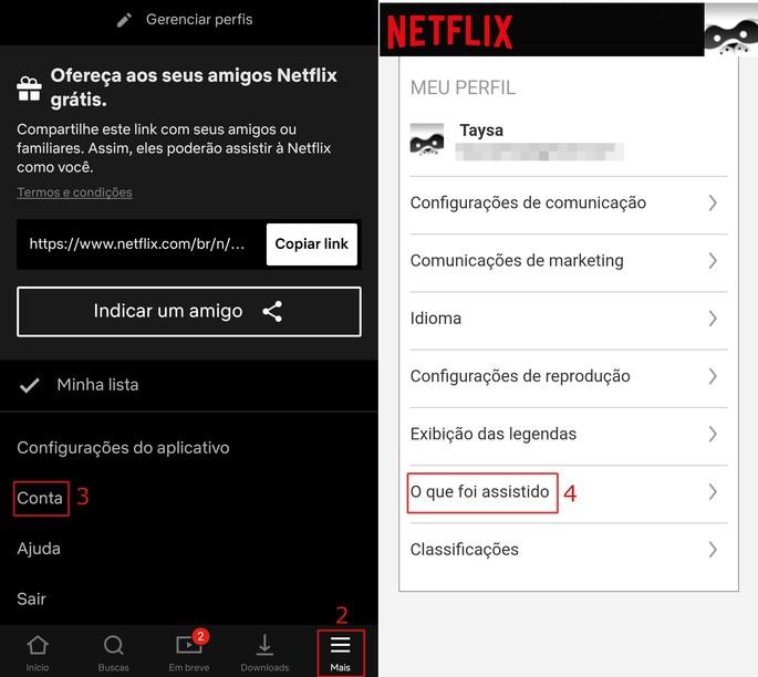 Apagar histórico da Netflix