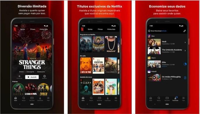 Imagem de divulgação do app da Netflix para Android