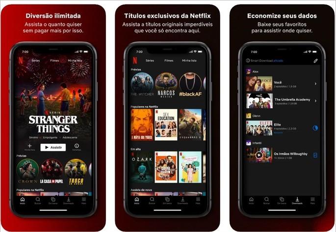 Imagem de divulgação do app da Netflix