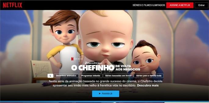 Captura de tela da Netflix Grátis