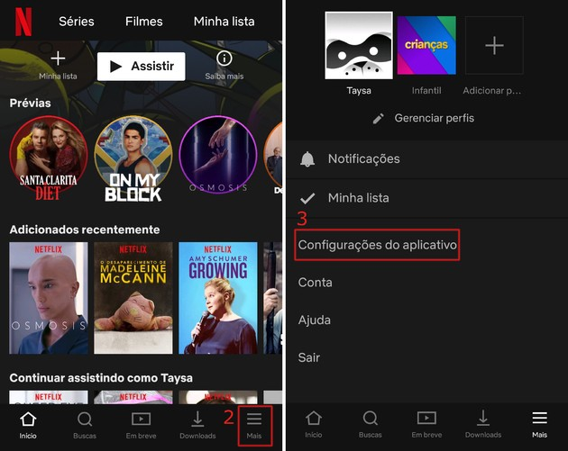 Alterar qualidade Netflix no celular