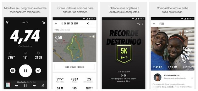 Monitorar corrida com o Nike Run Club