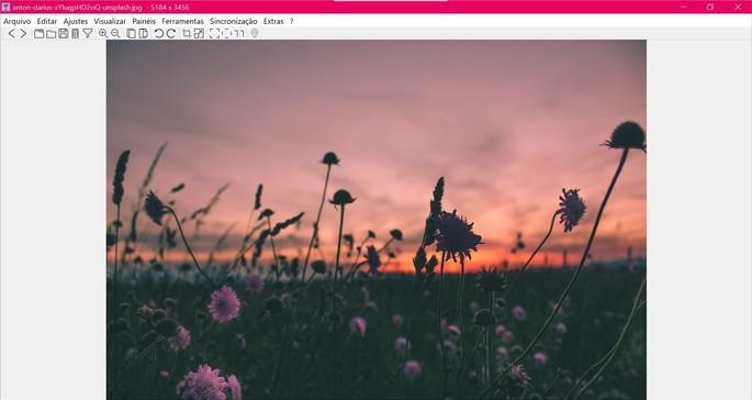 Captura de tela do visualizador de fotos nomacs