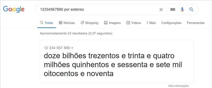 Google mostra como falar números longos
