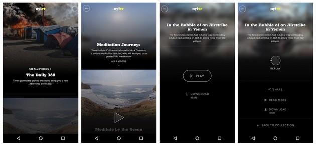 Realidade virtual com o New York Times VR