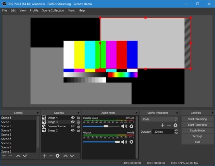 Imagem de divulgação do programa de streaming de games OBS