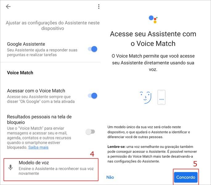 ativar desativar ok google