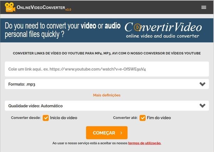 Site OnlineVideoConverter