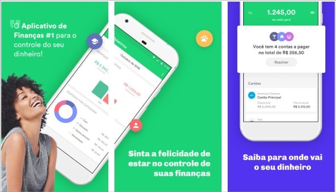Imagem de divulgação do app de finanças Organizze