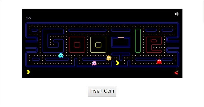 Doodle do Google dos 30 anos de aniversário do Pac-Man