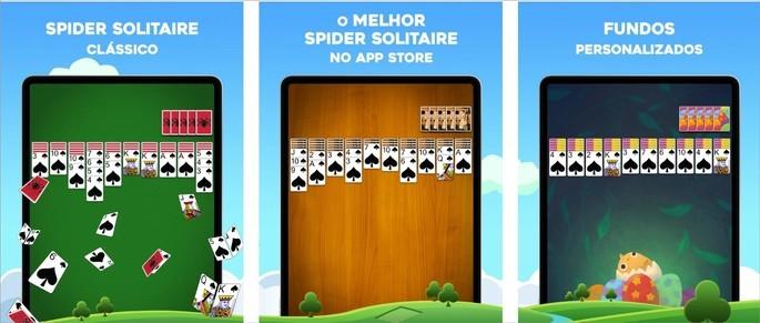 Imagem de divulgação do jogo Paciência Spider