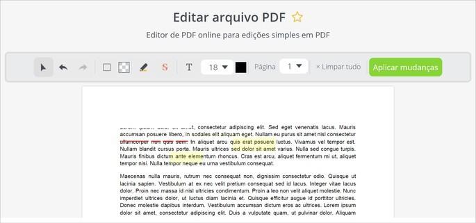 Editor de PDF do PDFCandy